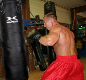 Training am Boxsack